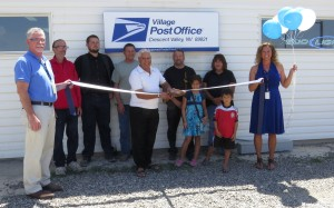 On Tuesday, July 30 at 1 p.m., some 40 people came out to enjoy a ribbon cutting and dedication as the USPS, Sam Bharta and the community of Crescent Valley celebrated
