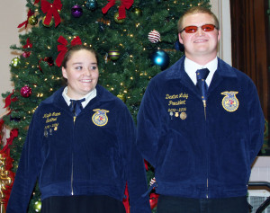The red carpet was rolled out for the stars Tuesday night, December 17, at the Eureka Opera House, when the FFA's Diamond Mountain Chapter held its annual Christmas Banquet