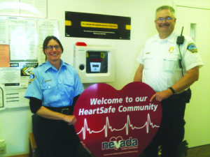 "Mike Sullivan, Eureka County EMS coordinator, was pleased to tell the commissioners that Eureka County has been named the first ""Heart Safe Community"" in Nevada. Two signs will be posted in Crescent Valley, including at the Town Hall and in Eureka. Sullivan thanked the members of the public and Cathy Wolf, primary EMS instructor in Crescent Valley."