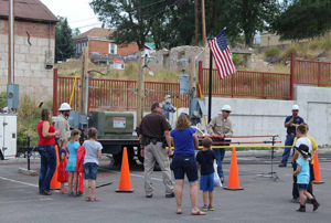 The Eureka County Sheriff's Office hosed its 4th National Night Out last week at the Eureka Firehouse.