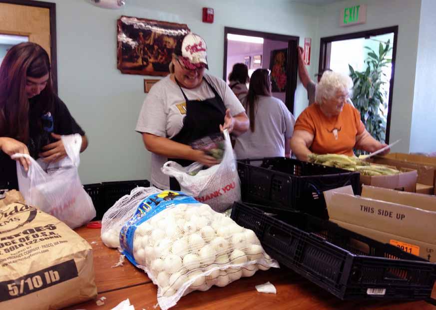County food bank distribution program has positive impact on local families