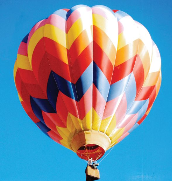Courtesy photo -  A Hot Air Balloons Over the Diamonds event will take place July 29-31 in Eureka. The event is free to the public, and a meet and greet with the balloonists will be held on July 29 in front of the train car on Bateman Street. Refreshments will be served and there will be music by the band Just Wait. A balloon glow will take place from 6 to 9 p.m. that day. On July 30-31 there will be a morning launch at 6:30 a.m. from the Eureka Airport. A thanks goes out to the following for their support with this event: Suburban Propane, Bob Dory, Eureka County Recreation Board, Eureka Activities, Pony Express Deli, Owl Club, Malarkey's, Eureka Chevron, Just Wait Band and Donna and Jim Engdahl.