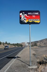 Courtesy photo - NDOT is raffling off the 'Welcome to Nevada' roadside signs. Entry to the contest is free.