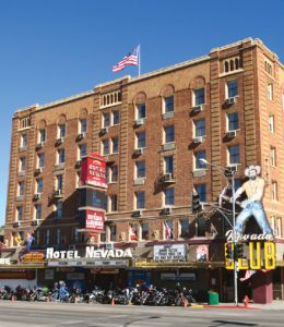 Courtesy photo -  The historic Hotel Nevada and Gambling Hall is a biker friendly venue that will be the host hotel for Ely's 1st Cool Mountain Thunder Bike Week, Sept. 2-11.